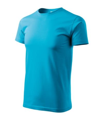 Tričko pánské Basic tyrkysová 4XL