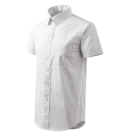 Shirt short sleeve košile pánská bílá 3XL