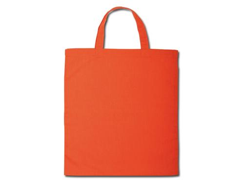 Bavlněné tašky 38 x 42 cm - oranžové, krátká ucha