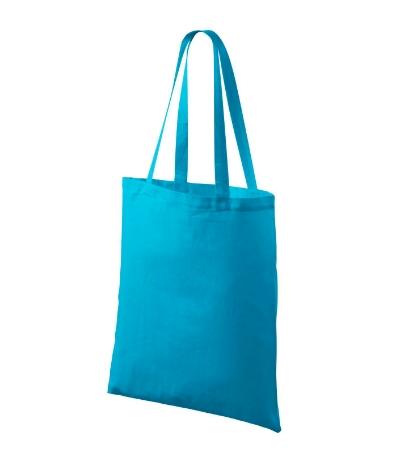 Bavlněné tašky 38 x 42 cm - tyrkysové, dlouhé ucho