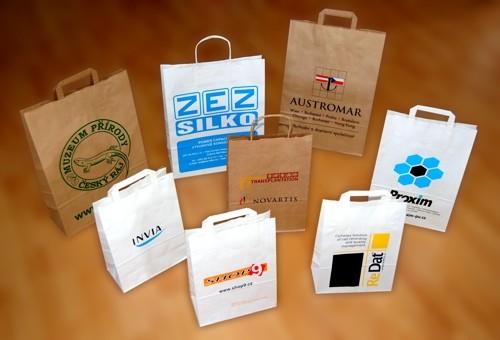 Papírové tašky - ukázka potisků