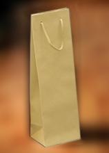 Papírové tašky o rozměru 115 x 90 x 370 mm,  bavlněná držadla, hnědé