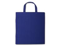 Bavlněné tašky 38 x 42 cm - modré, krátká ucha
