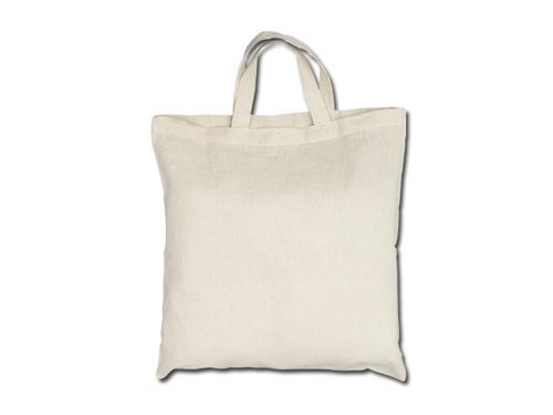 Bavlněné tašky 39 x 41 cm - přírodní, krátká ucha