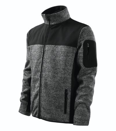 Malfini softshellová bunda Casual Knit Gray XL
