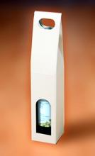 Krabice na 1 lahev vína 80 x 80 x 400 mm, bílá