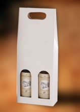 Krabice na 2 lahve vína 160 x 80 x 400 mm, bílá