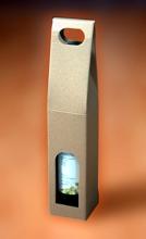 Krabice na 1 lahev vína 80 x 80 x 400 mm, hnědá
