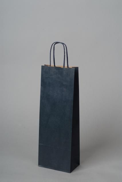Papírové tašky o rozměru 150 x 80 x 400 mm, modrá
