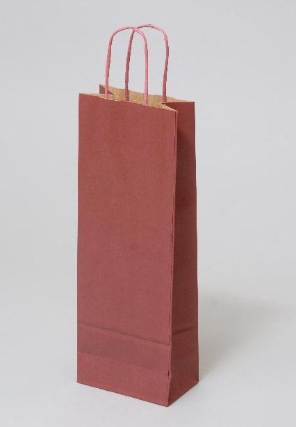 Papírové tašky o rozměru 150 x 80 x 400 mm, bordó