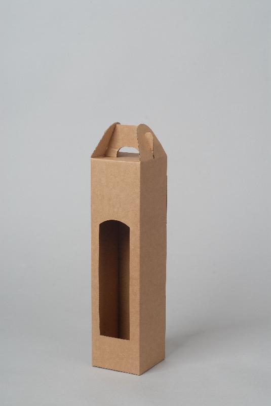 Krabice na 1 láhev 80 x 80 x 345 mm, přírodní