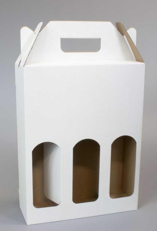 Krabice na 3 piva 210 x 70 x 275 mm, bílá
