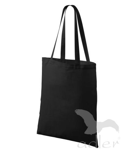 Bavlněné tašky 38 x 42 cm - černé, dlouhé ucho