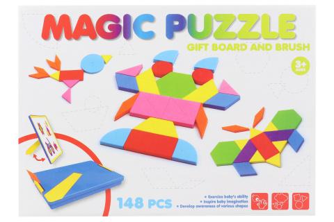 Magnetické tangramy v plastové krabici