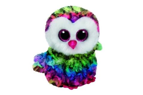 Beanie Boos OWEN 15 cm - barevná sova
