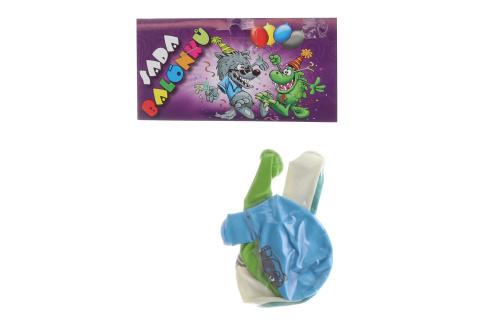 Balónky kulaté  ZOO barevný potisk 4 ks