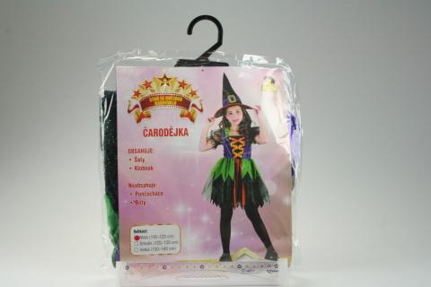 Šaty na karneval - Čarodějka, 110-120 cm