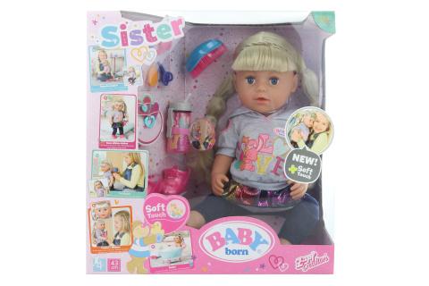 Sestřička BABY born Soft Touch blondýnka, 43 cm TV 1.10.-31.-12.