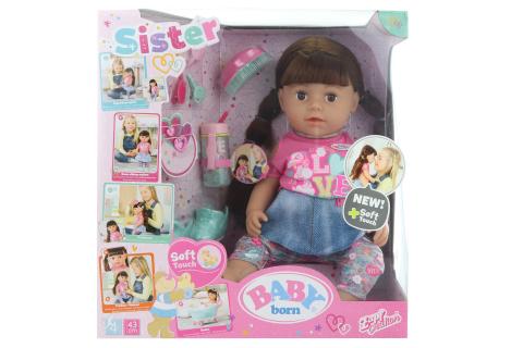 Sestřička BABY born Soft Touch brunetka,  43 cm TV 1.10. - 31.12