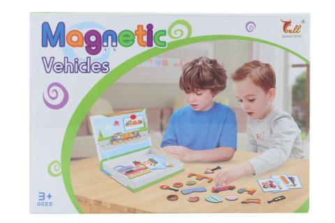 Stavebnice magnetická dopravní prostředky